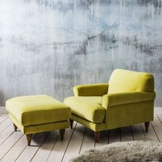 Hamilton Armchair and Footstool | Sofas | Graham and Green