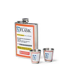Prescription Hip Flask Gift Set - Novelty Hip Flask Gift Set - Now Laugh