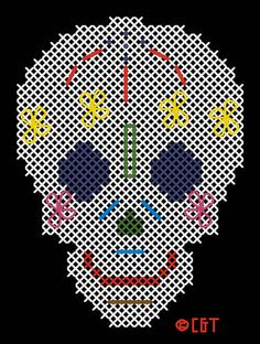 Free Day of the Dead Small Skull Cross Stitch Pattern (@ about.com)