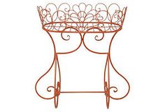 Oval Plant Stand, Orange or Could be used to hold a tub of ice for outdoor parties