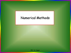 Numerical Methods for 12th Grade Math - help students solve equations of the form f(x) = 0 using: interval bisection, linear interpolation, the Newton-Raphson method, and Euler's Step by Step Method.