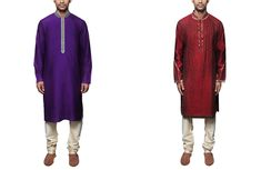 Blue and Red Kurtas from Strand of Silk | The Perfect Guest's Guide to Glamming it up at an Indian Wedding