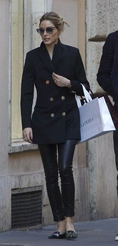 Olivia Palermo in Reiss shopping in Italy. #bestdressed