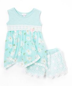 Love this Moonstone Beach Floral Dress & Crochet Bloomers - Infant & Toddler on #zulily! #zulilyfinds