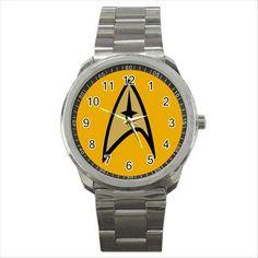 NEW* HOT STAR TREK BADGE Quality Sport Metal Wrist Watch Gift D02
