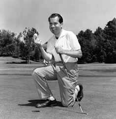 President Nixon at the Biltmore Golf Club in Phoenix, Arizona.