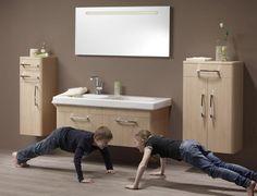 LAKBERENDEZÉS - OTTHON - DESIGN blog: Praktikus fürdőszoba bútor megoldás Design Blog, Cabinet Design, Toilet, Sink, Vanity, Bathrooms, Home Decor, Bathroom Furniture, Bathroom
