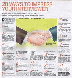 20 Ways to Impress A