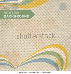 Abstract retro background with stripes by Chuhail, via ShutterStock