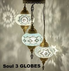 DEMMEX Turkish Moroccan Mosaic Hardwired OR Swag Plug in Chandelier Light Ceiling Hanging Lamp Pendant Fixture, 3 Big Globes X Globes Swag) Ceiling Hanging, Ceiling Lamp, Hanging Lights, Ceiling Lights, Hanging Lamps, Turkish Lamps, Moroccan Lamp, Turkish Lights, Morrocan Decor