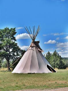 Black Hills Wild Horse Sanctuary - Native Americans Tipi, via Flickr.
