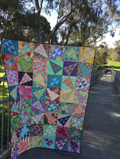 I love this beautiful scrappy quilt by Susan Snooks of #PatchworkNPlay! The bright colors are perfection, and her quilting was done with Aurifil 40wt thread! To see more, please visit: http://patchworknplay.blogspot.com/2017/06/a-friday-finish.html