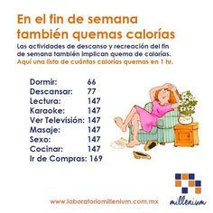 El descanso también quema calorías algo es algo!