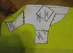 Cutting out a pattern piece using the on fold instructions
