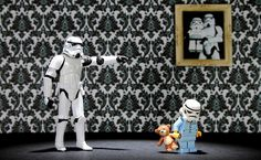 UK-based photographer Andy Wells has been working on his Stormtroopers series since last May (and May the Fourth be with you). These posed photos place Star Wars Stormtrooper action figures and LEGO minifigures in funny situations. Lego Stormtrooper, Stormtroopers, Stormtrooper Action Figure, Starwars Lego, Lego Star Wars, Legos, The Dark Side, Star Wars Humor, Love Stars