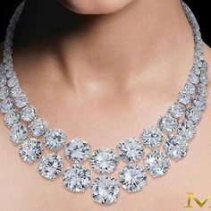 Moussaieffjewellers. Incredible double diamond necklace. Impressive stones carat. Exceptional brilliance. Perfect Marvellous jewel. Most expensive.