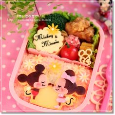 Disney Bento! Mickey&Minnie. To see more cute stuff visit http://whykawaii.com!