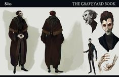 """Some personal character designs for Neil Gaiman's """"The Graveyard Book"""". Neil Gaiman, Anubis, The Graveyard Book, Stage Play, Cultura Pop, Novels, Character Design, It Cast, Photoshop"""
