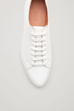 COS image 3 of Pointed sneaker in White