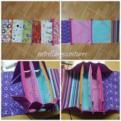 Bolsa multiusos - Entre llibres i costures: Estuche cuatro bolsillos o Together Bag - RUMS Bag Patterns To Sew, Sewing Patterns, Sewing Tutorials, Sewing Projects, Sew Together Bag, Bug Crafts, Purse Organization, Sewing Class, Quilted Bag