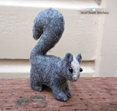 SOLD.Small handmade squirrel by WoolStreetStitchery on Etsy