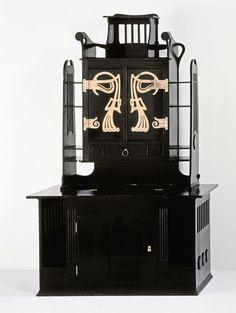 Art Nouveau Studio Cabinet by Josef Hoffmann for Koloman Moser, Vienna Koloman Moser, Muebles Estilo Art Nouveau, Mackintosh Furniture, Art Nouveau Furniture, Vienna Secession, Garage Sale Finds, Artist And Craftsman, Arts And Crafts Movement, Unique Furniture