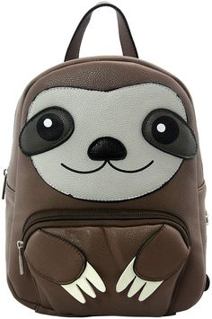 Brown Sloth Mini Backpack I actually *own* this and it's so damn cute Cute Baby Sloths, Cute Sloth, Cute Baby Animals, Baby Otters, Wild Animals, Sloth Cakes, Mini Mochila, My Spirit Animal, Mini Backpack