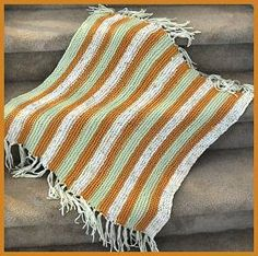 Puffin + Cotton Twirl Striped Baby Blanket Pattern - Crystal Palace Yarns - free knit Baby blanket pattern