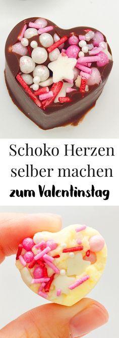 DIY Geschenke zum Valentinstag. Schokolade selber machen - süße und einfache DIY Geschenkidee. Valentinstagsgeschenke selber machen für ihn oder sie. Einfaches Rezept zum nachmachen. #rezepte #schokolade #schokoladeselbermachen #diygeschenk #valentinstag