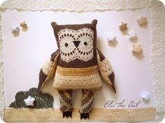 Ella   owl   soft art  creature toy  by   by wassupbrothers, $90.00