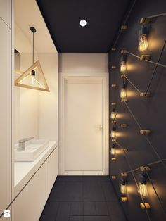 [ Modern Scandinavian Inspired Apartment Ingenius Features Modern Scandinavian Inspired Apartment Ingenius Features ] - Best Free Home Design Idea & Inspiration Loft Interior, Apartment Interior, Bathroom Interior, Modern Bathroom, Home Interior Design, Small Bathroom, Apartment Lighting, Modern Room, Bathroom Remodeling