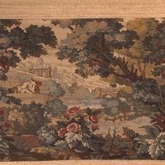 Antique French cotton floral print fabric circa 1900.Tissu fleuri ancien