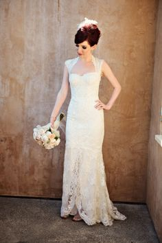 cute and classic #lace #weddingdress