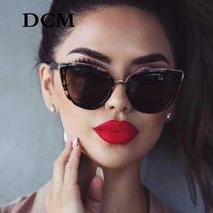 09dfcd074d63 Cateye Sunglasses Women Vintage Gradient Glasses Retro Cat eye Sun glasses  Female Eyewear