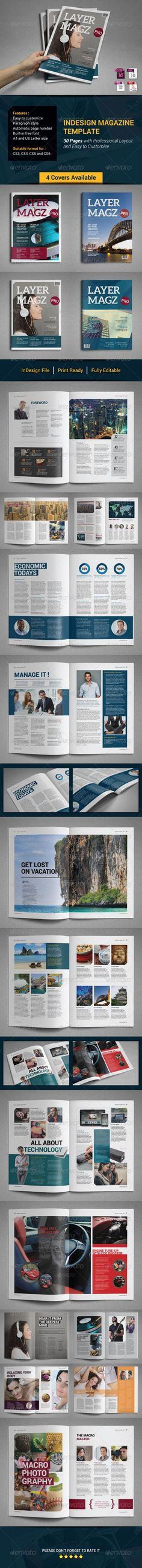 Indesign Magazine Template — InDesign INDD #print #page • Available here → https://graphicriver.net/item/indesign-magazine-template/7994726?ref=pxcr