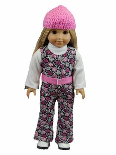 """18"""" Doll Clothing Fits American Girl Doll 60's Jumper Hat Shirt Clothing #SGP #TheQueensTreasures…"""