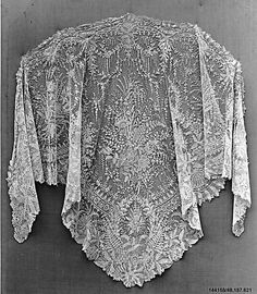 Shawl - Belgian Needle Lace 1870's