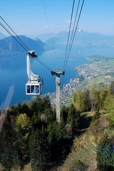 Cable car to Mount Rigi, Switzerland