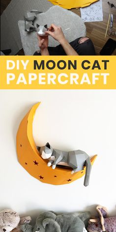 Paper Mache Crafts For Kids, Paper Crafts Origami, Art Crafts, 3d Paper Projects, Fun Projects, Laser Paper, Diy Ideas, Craft Ideas, Baby Girl Nursery Decor