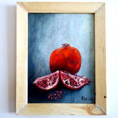 yağlı boya nar | oil painting pomegranate
