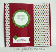 Julie's Stamping Spot -- Stampin' Up! Project Ideas Posted Daily: Christmas Collectibles Flip Flop Card with Stampin' Up! Thinlits