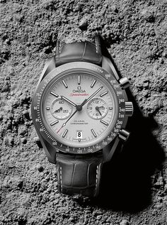 Omega Speedmaster Grey Side of the Moon on grey dust