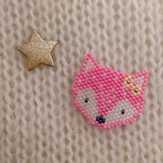 miyuki perles brick stitch diy peyote renard