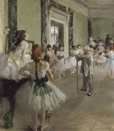Degas regularly went to the Paris opera house, not only as a member of the audience, but as a visitor backstage and in the dance studio, where he introduce...