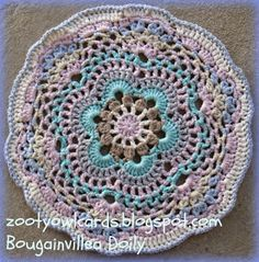 crochet doily... Free pattern and photo tutorial!