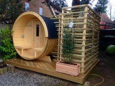 arched sauna - Google Search Barrel Sauna, Prefab, Garden, Tiny Houses, Google Search, Home, Garden Cottage, Small Homes, Garten