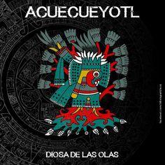 Diosa Aztec Religion, Aztec Symbols, Mexican Artwork, Longboard Design, Aztec Culture, Western Caribbean, Aztec Art, Mesoamerican, Folklore