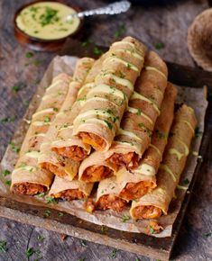 Buffalo Chickpea Taquitos are crispy, spicy, and satisfying! No chicken needed for this protein-rich and delicious recipe. The taquitos are gluten-free, vegan, and easy to make! Vegan Dinner Recipes, Veggie Recipes, Mexican Food Recipes, Whole Food Recipes, Cooking Recipes, Chicken Recipes, Party Recipes, Grilling Recipes, Cocktail Recipes