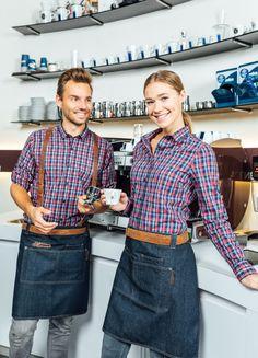 Cafe Uniform, Waiter Uniform, Uniform Dress, Beauty Uniforms, Uniform Design, Apron Designs, Dress Codes, Frankfurt, Munich