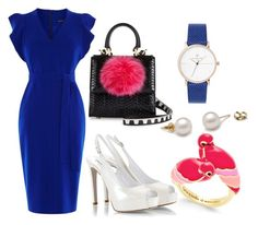 """""""can try!!"""" by memowitta on Polyvore featuring Kate Spade, Les Petits Joueurs, Karen Millen and Fratelli Karida"""